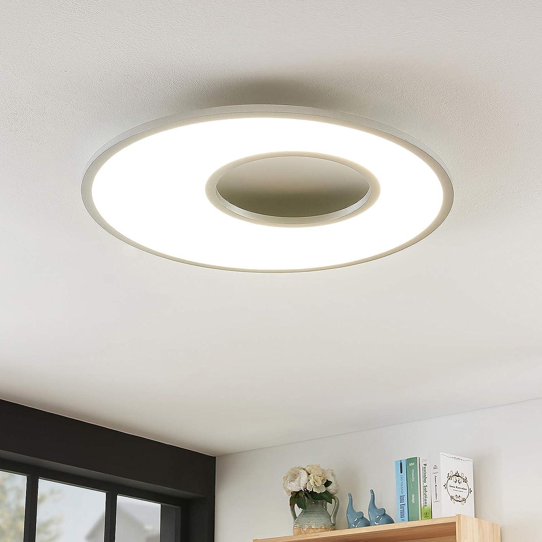 Lampenwelt LED Deckenleuchte 'Durun' dimmbar mit Fernbedienung (Modern) in Weiß u.a. für Küche (1 flammig - Lampenwelt Deckenleuchten