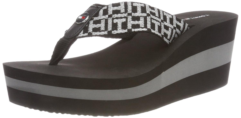 Tommy Hilfiger Damen Metallic Mid Beach 990) Sandale Zehentrenner, Schwarz (schwarz 990) Beach d676f0