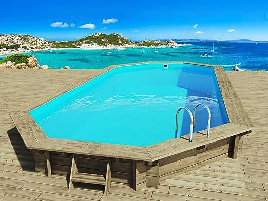 Habitat y jardín - Piscina madera Ibiza - 8.57 X 4.57 x 1.31 M ...