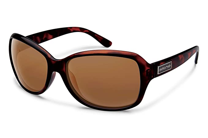 Suncloud Mosaic Sunglasses, Tortoise Frame/Brown Polycarbonate Lens, One Size best women's polarized sunglasses