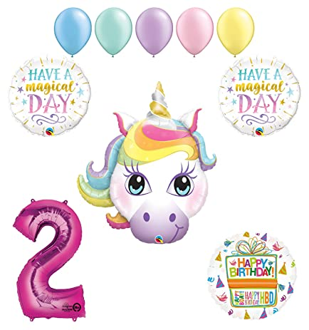 Magical Unicorn 2nd Birthday Party Supplies And Balloon Decorations
