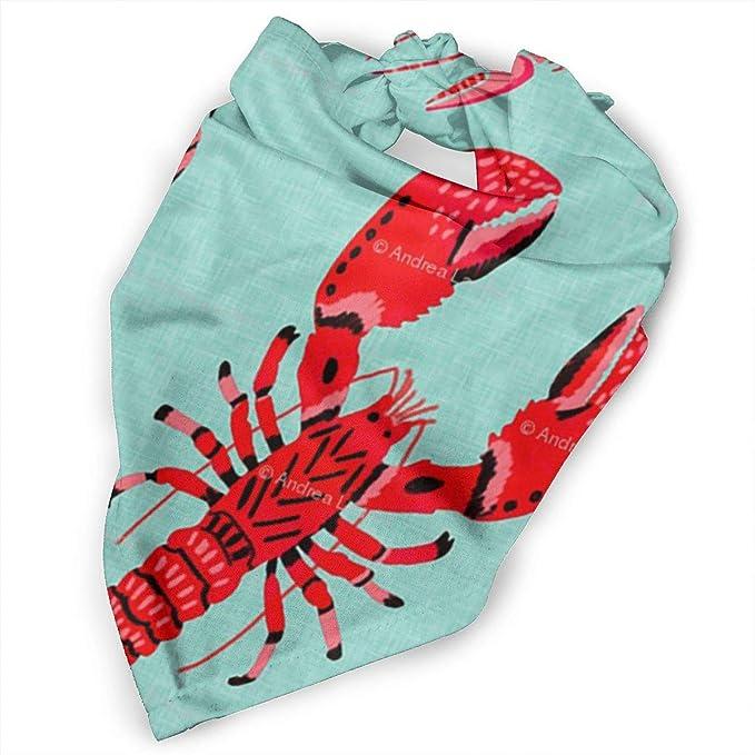 Red Lobsters Dog Bandana  Striped Cat Bandana  Nautical Puppy Bandana  Over the Collar  Sea Dog Neckerchief  Fish Pet Bandana  Water