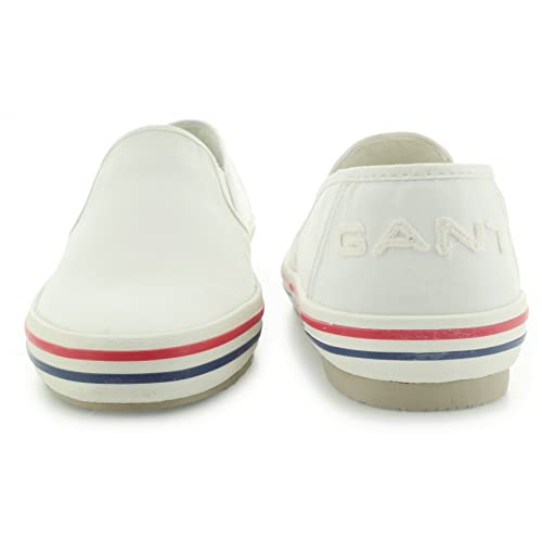 GANT - Mocasines para Hombre Blanco Cream 41: Amazon.es: Zapatos y complementos