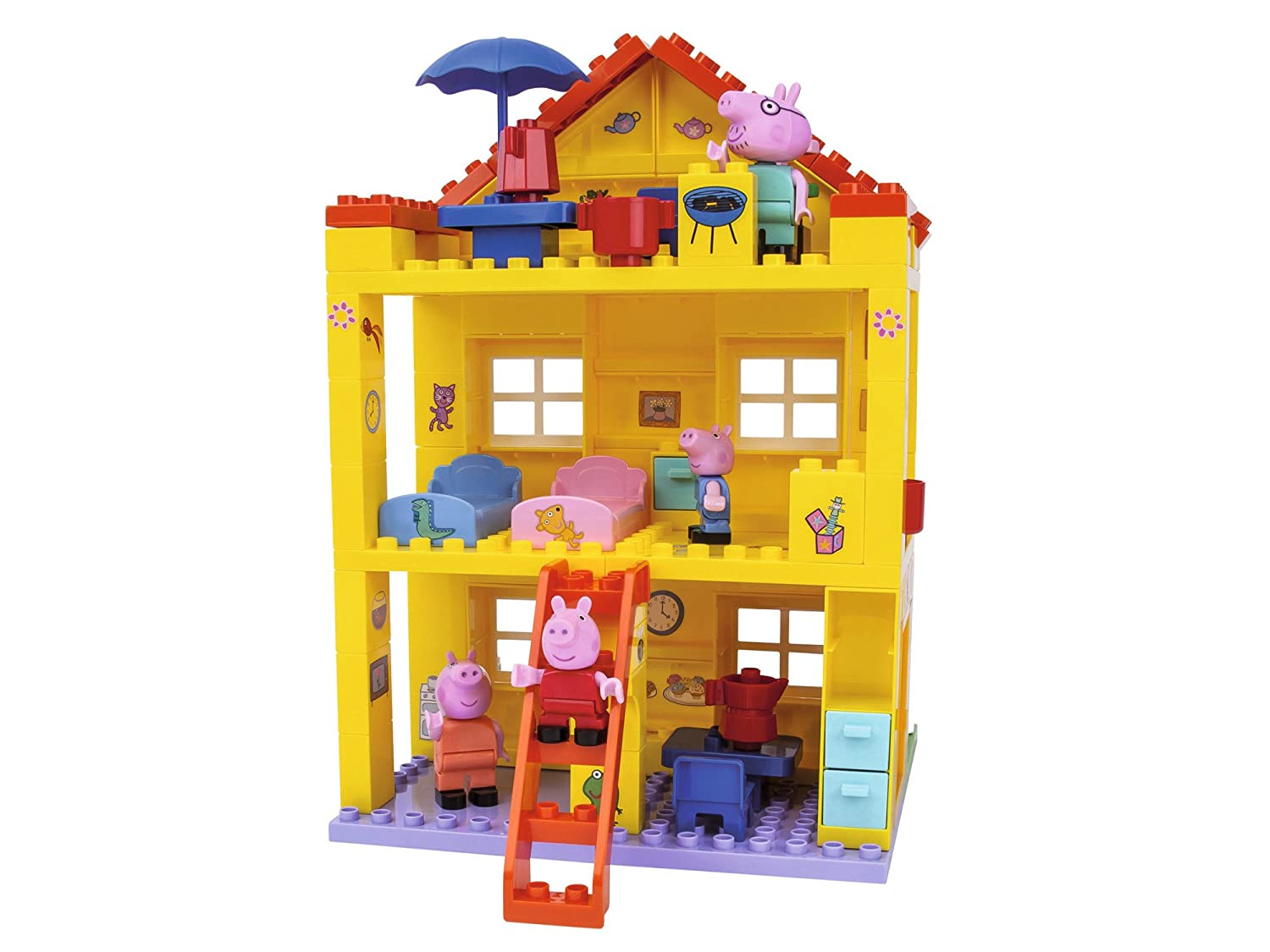 Big Peppa Pig Peppas House Building Sets Simba Smoby 800057078
