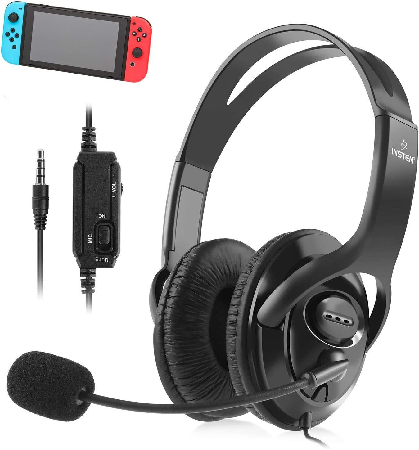 Amazon com: Insten Headset with Mic compatible with Nintendo Switch