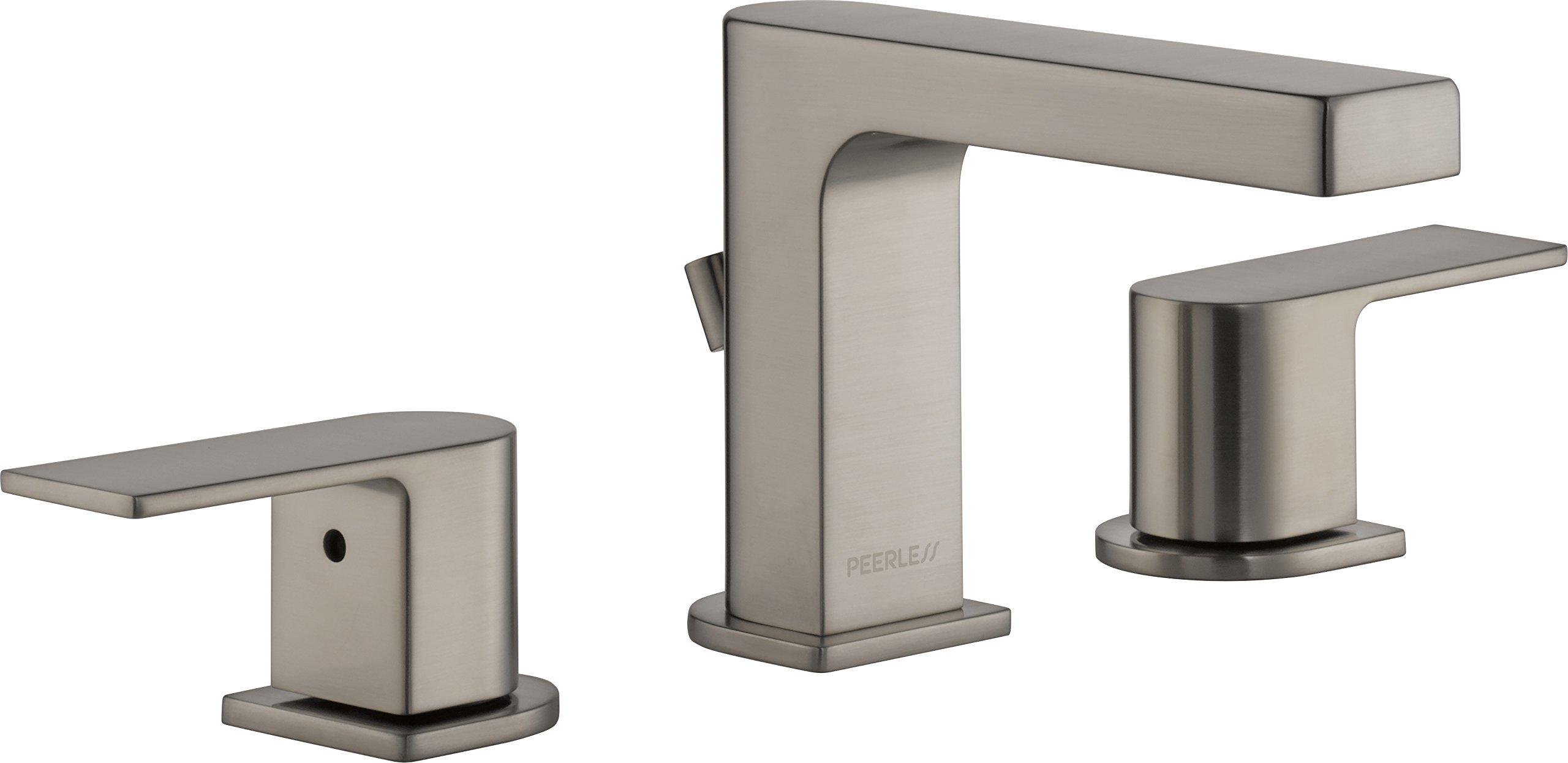 Peerless P3519LF-BN Xander Two Handle Widespread Bathroom Faucet, Brushed Nickel