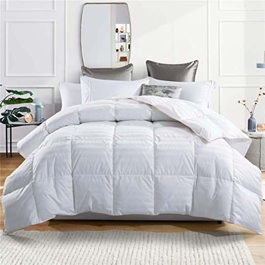 Amazon.com: puredown Comforter Goose Down Comforter 600 Fill Power