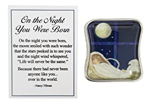 Nancy Tillman On The Night You were Born Charm Pocket Token with Story Card ~ You are The One and Only Ever You