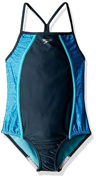3c8da3c5ddc30 Amazon.com: Speedo Heather Thin Strap Onepiece (7-16): Clothing