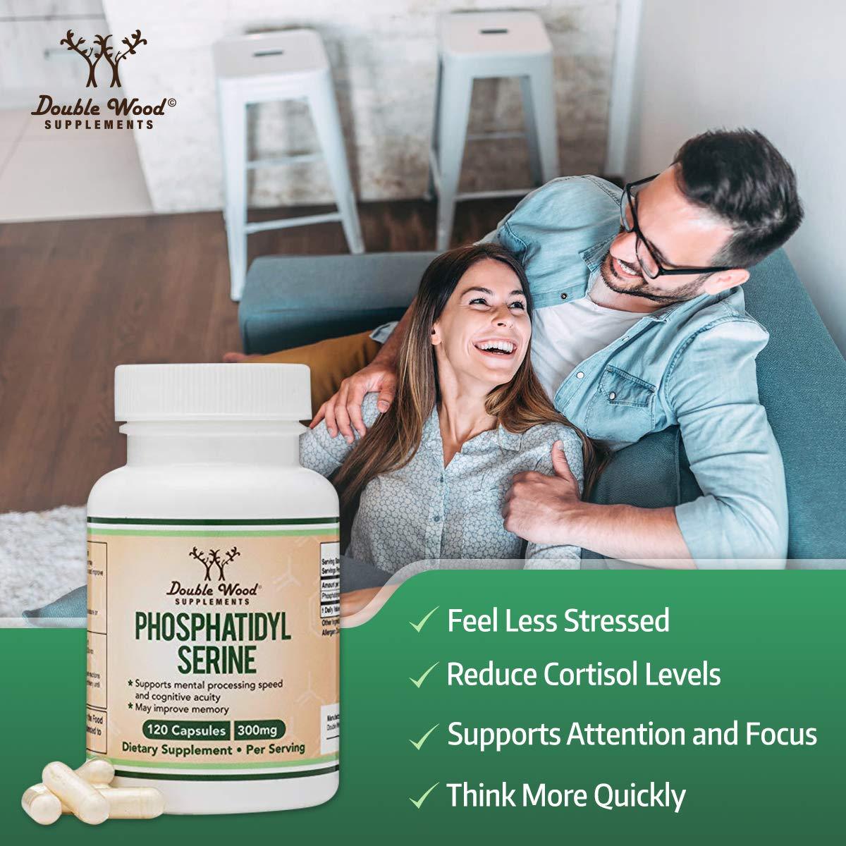 PhosphatidylSerine 300mg Per Serving, Made in The USA, 120 Capsules (Phosphatidyl Serine Complex) by Double Wood Supplements by Double Wood Supplements (Image #4)