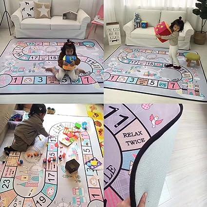 MAXYOYO Play Mat For Baby Grey Area Rug Foam Play Mat Living Room Floor Mats  Baby