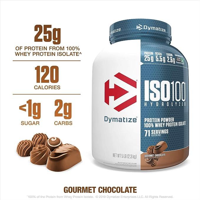 Dymatize Nutrición ISO 100 Chocolate polvo 2275 g: Amazon.es ...