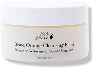 product image for 100% PURE Blood Orange Cleansing Balm, Daily Makeup Remover, Oil Based Cleanser for All Skin Types, Moisturizing Facial Cleanser, Made with Coconut Oil, Blood Orange - 3 Oz