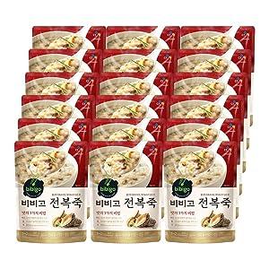 [ 18 Packs ] CJ Bibigo Korean abalone porridge 전복죽 450g