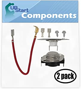 """2 Pack Replacement 279816 Thermostat Kit for Admiral AED4675YQ0 29"""" Electric Dryer"""