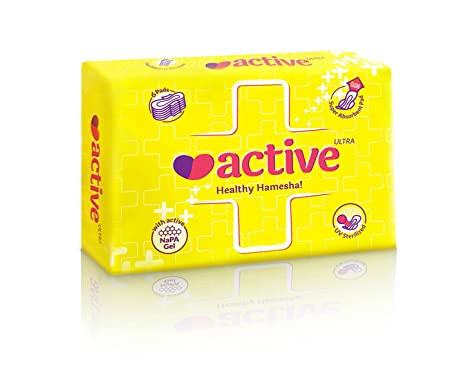 Active Ultra Healthy Hamesha Sanitary Pads Combo Of 12 Packets Thin (Xl) -  72 Pads