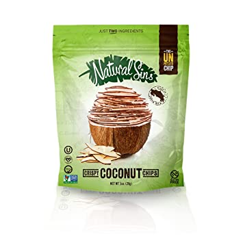 Amazon.com: Natural Sins crujiente Chips de coco – Estuche ...