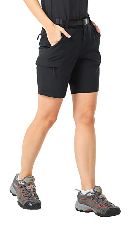 a31cc0673c MIER Women's Stretchy Hiking Shorts Quick Dry River Cargo Shorts with 6  Pockets, Water-