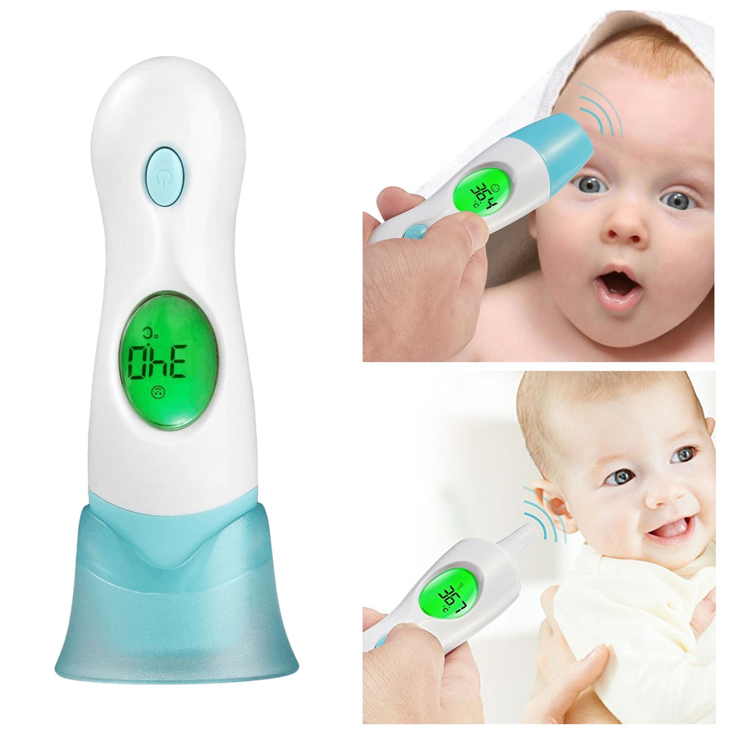 Digital Ear Forehead Thermometer for Baby, Kids, Adults No Touch Infrared Body Temperature Accurate Fever Thermom YSL