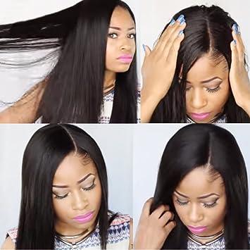 KUN Hair 360 Lace Front Wigs Human Hair Wigs Brazilian Virgin Hair Free  Part Natural Hairline ab604a0affa3