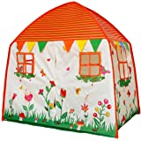 Homfu Kids Tent Playhouse For Children To Play Indoor Garden and Outdoors Toy Princess tents for Girls (Garden Playhouse) (White)