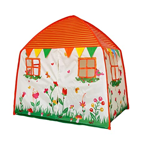 cca8189b14d Amazon.com  Homfu Kids Play Tent for Children Playhouse Toy As A Gift for  Boys and Girls Play Indoor and Outdoor (Orange)  Toys   Games