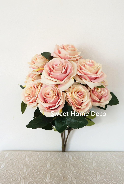 Amazon Sweet Home Deco 18 Princess Diana Rose Silk Artificial