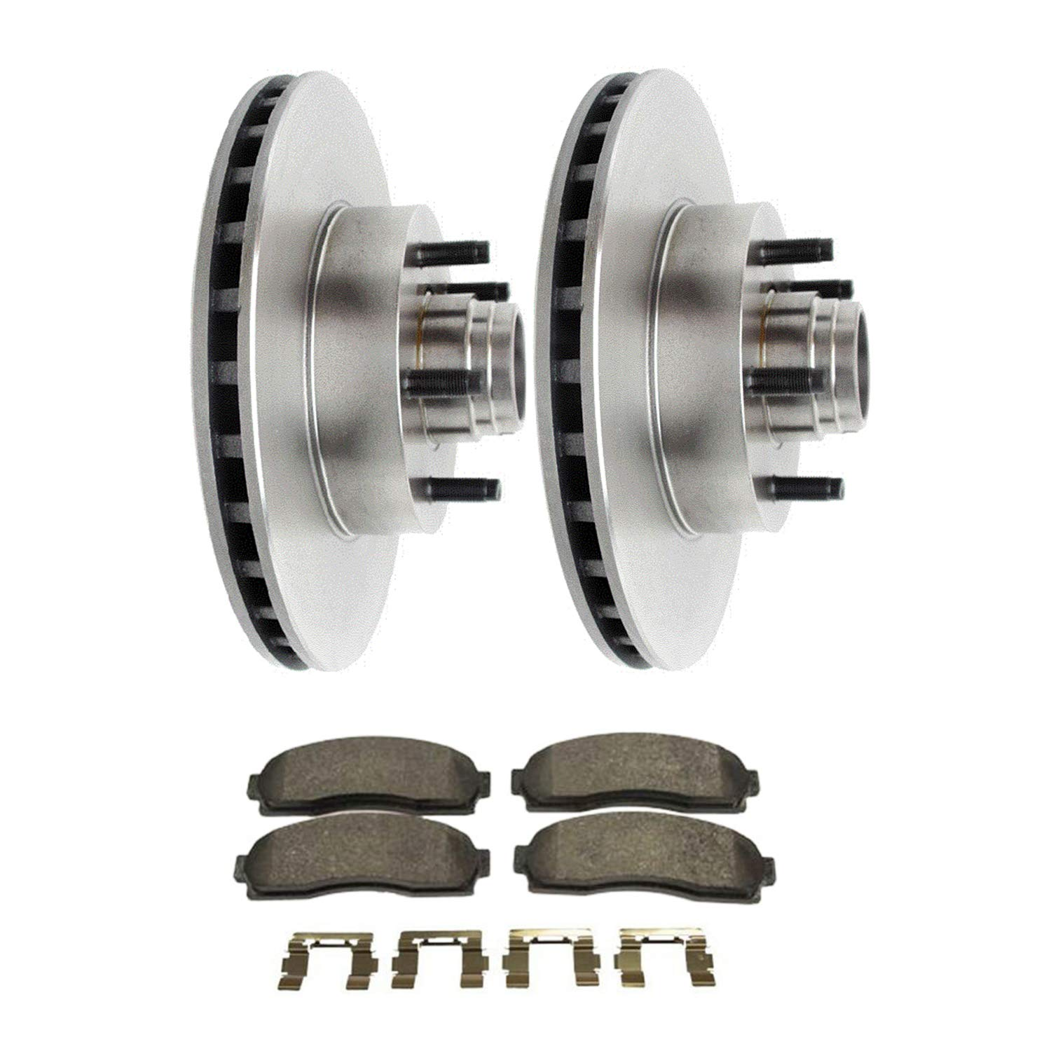 Detroit Axle 287mm Front Disc Replacement Brake Kit Rotors Ceramic Pads w//Hardware for 2003 2004 2005 2006 2007 2008 2009 Ford Ranger 2WD with 4 Wheel ABS//Mazda B2300