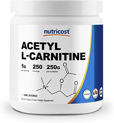 Nutricost Acetyl L-Carnitine ALCAR 250 Grams- 1G Per Serving – 250 Servings – Highest Quality Pure Acetyl L-Carnitine Powder