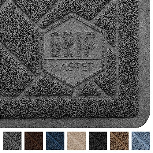 GRIP MASTER Durable Premium Cat Litter Mat (35x23), Highly Effective, XL Jumbo, No Phthalate, Water Resistant, Traps Litter from Box and Cats, Scatter Control, Mats Soft on Kitty Paws (Graphite)