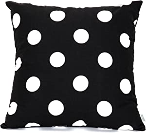 Majestic Home Goods Large Polka Dot Pillow, X-Large, Black