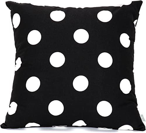 Majestic Home Goods Large Polka Dot Pillow, X-Large, Black