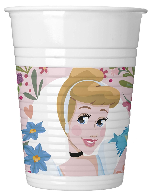 COOLMP - Juego de 6 Vasos de plástico Disney Princesas 200 ...