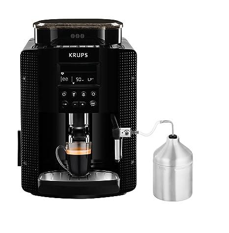 Krups Essential EA81M8 - Cafetera superautomática, accesorio leche, depósito de agua 1.7 l, 3 niveles de temperatura, 3 texturas de molienda, de 1450 ...