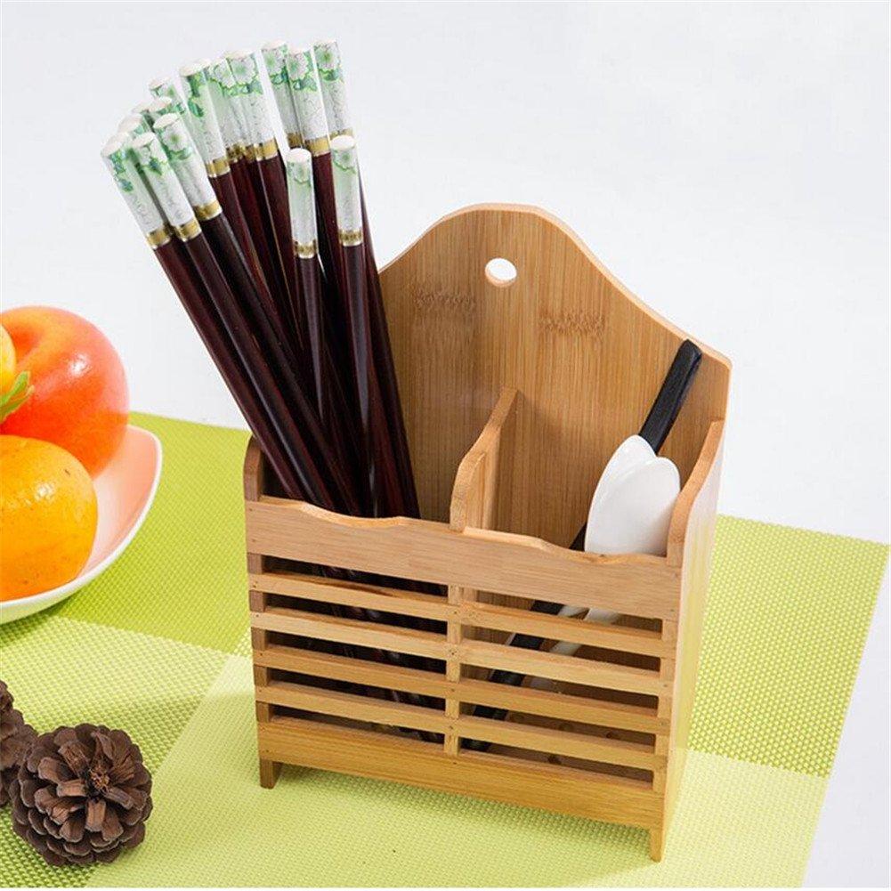 Essstäbchen, Löffel, Bambus, zum Aufhängen, für Besteck-Ablage ...
