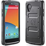 i-Blason Armorbox for Google Nexus 5 by LG Dual Layer Hybrid Full-body Protective Case with Front Cover and Built-in Screen Protector and Impact Resistant Bumpers (Black)