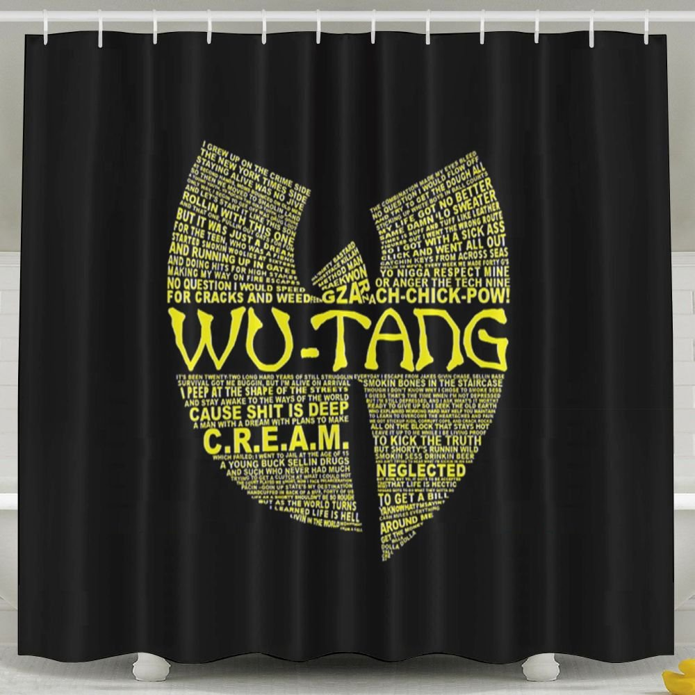 Beverly H. Griffin Wu Tang Clan Mildew Shower Curtain Waterproof Non Toxic Eco-Friendly Bathroom Curtains 60x72inch