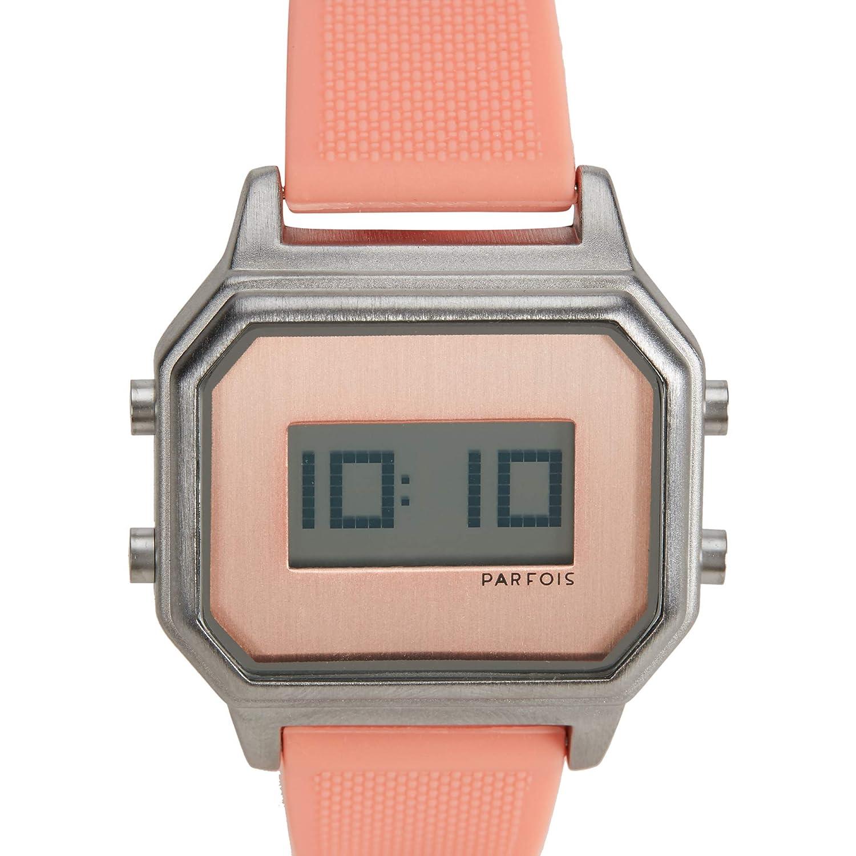 Parfois - Reloj Digital Engomado - Mujeres - Tallas Única - Blanco: Amazon.es: Relojes