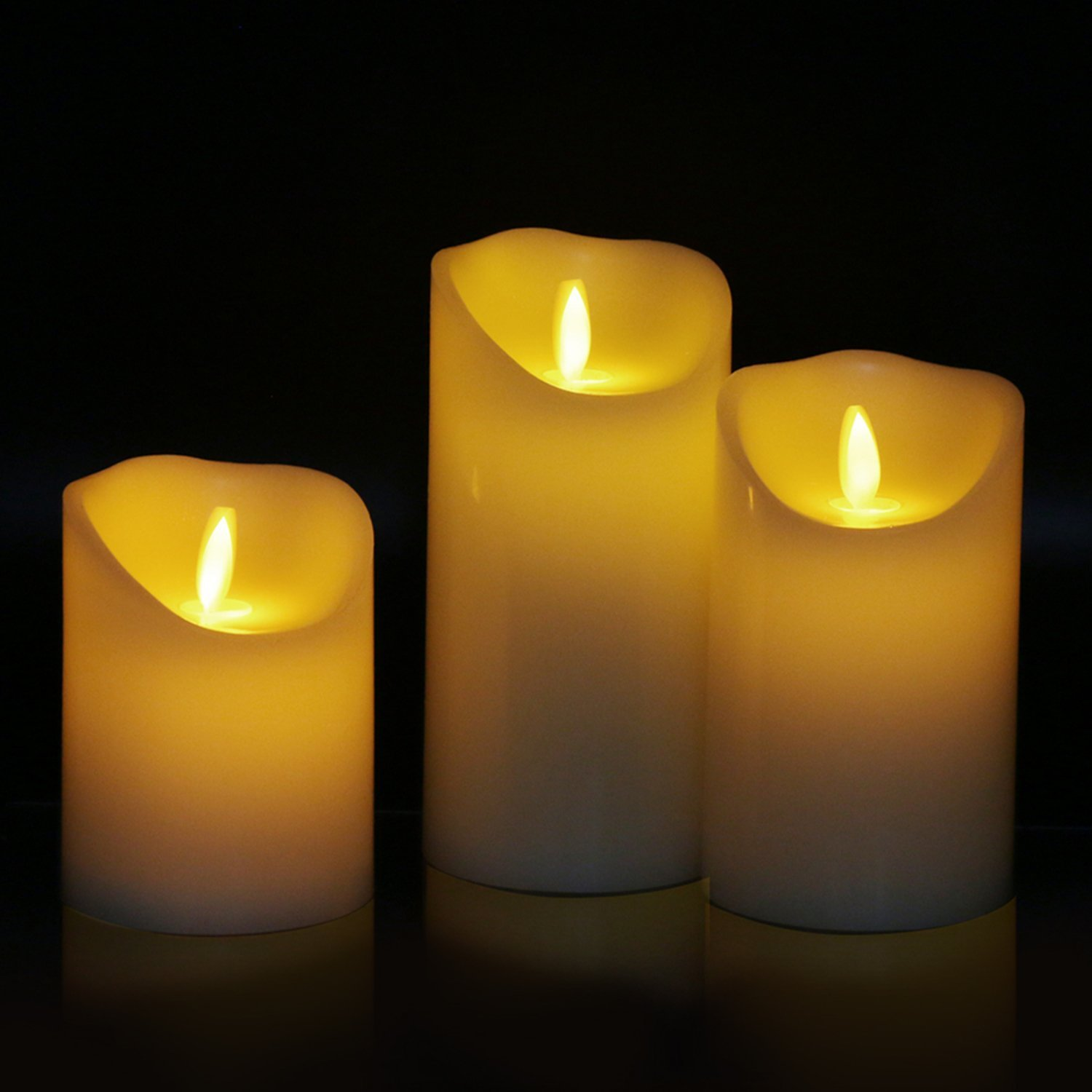 Amazon Big House Flickering Flameless Candles with Timer Remote