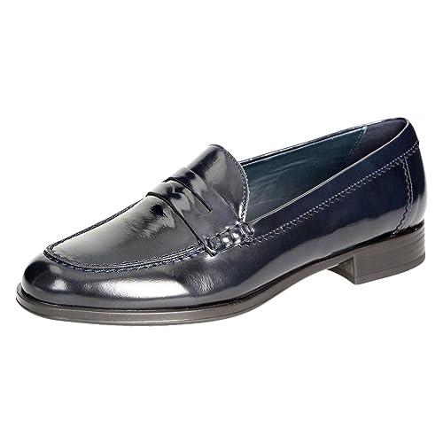 Sioux - Mocasines de charol para mujer azul azul, color azul, talla 40: Amazon.es: Zapatos y complementos
