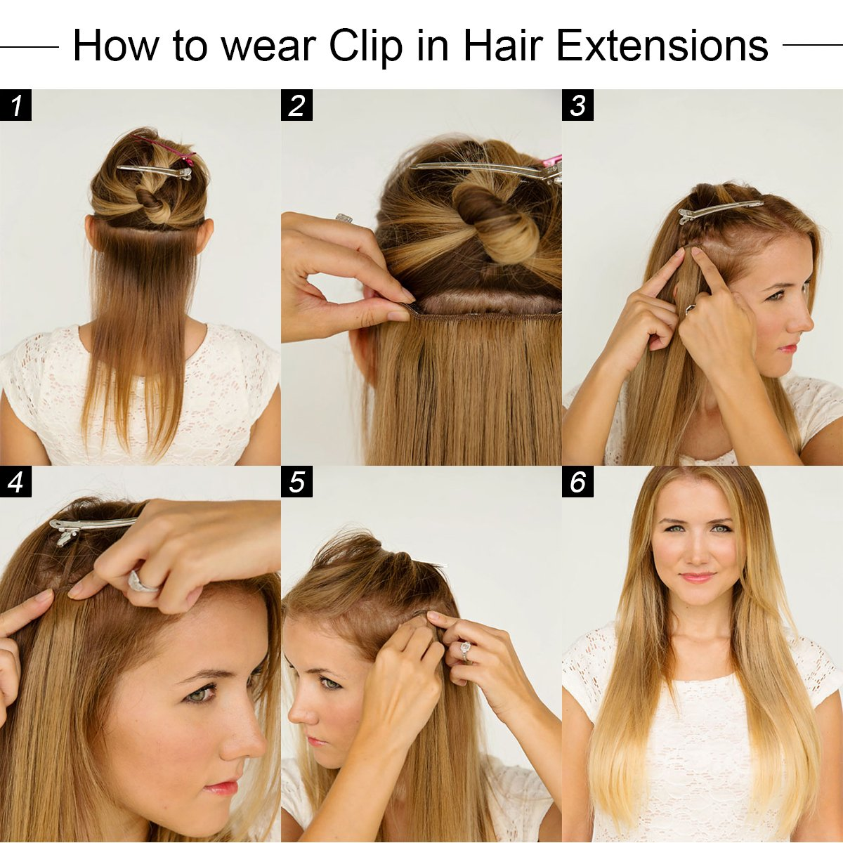 Amazon 20 Clip In Hair Extensions Human Hair Clip On