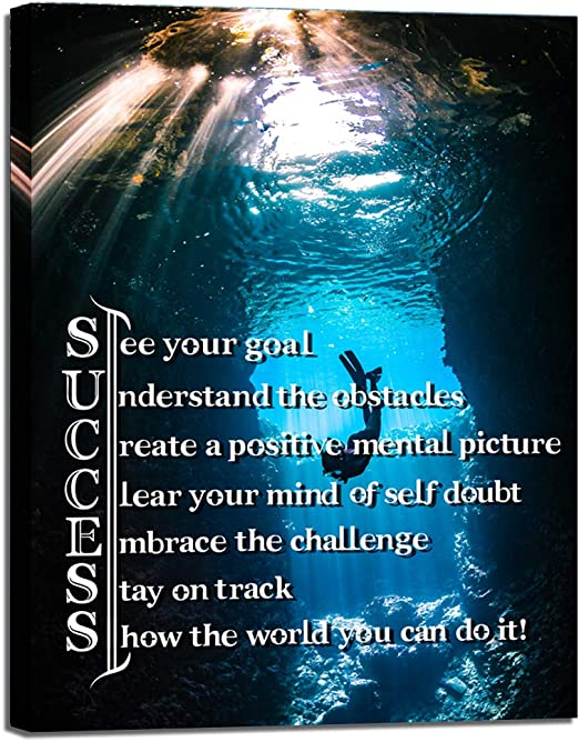 Motivational inspirational quote positive life poster picture print wall art 139