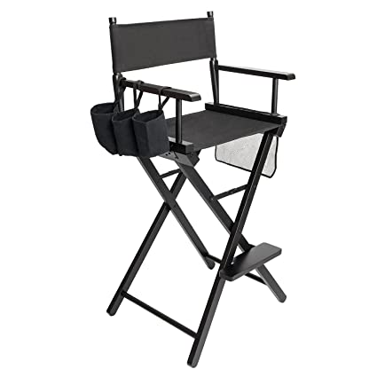 Crazyworld Upgraded Makeup Artist Tall Directors Chair Lightweight Foldable  Professional 30u0026quot; Seat Height Causal Home