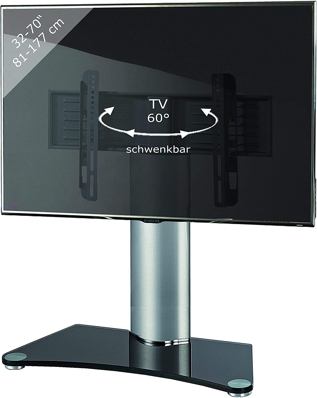 VCM Windoxa Maxi-Soporte de Mesa para TV, Cristal de Color Negro ...