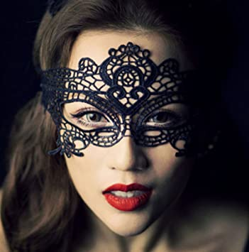 V&ire Style Cat Catwoman Mask Woman Costume Sexy Lace Masquerade Ball Black  sc 1 st  Amazon.com & Amazon.com: Vampire Style Cat Catwoman Mask Woman Costume Sexy Lace ...
