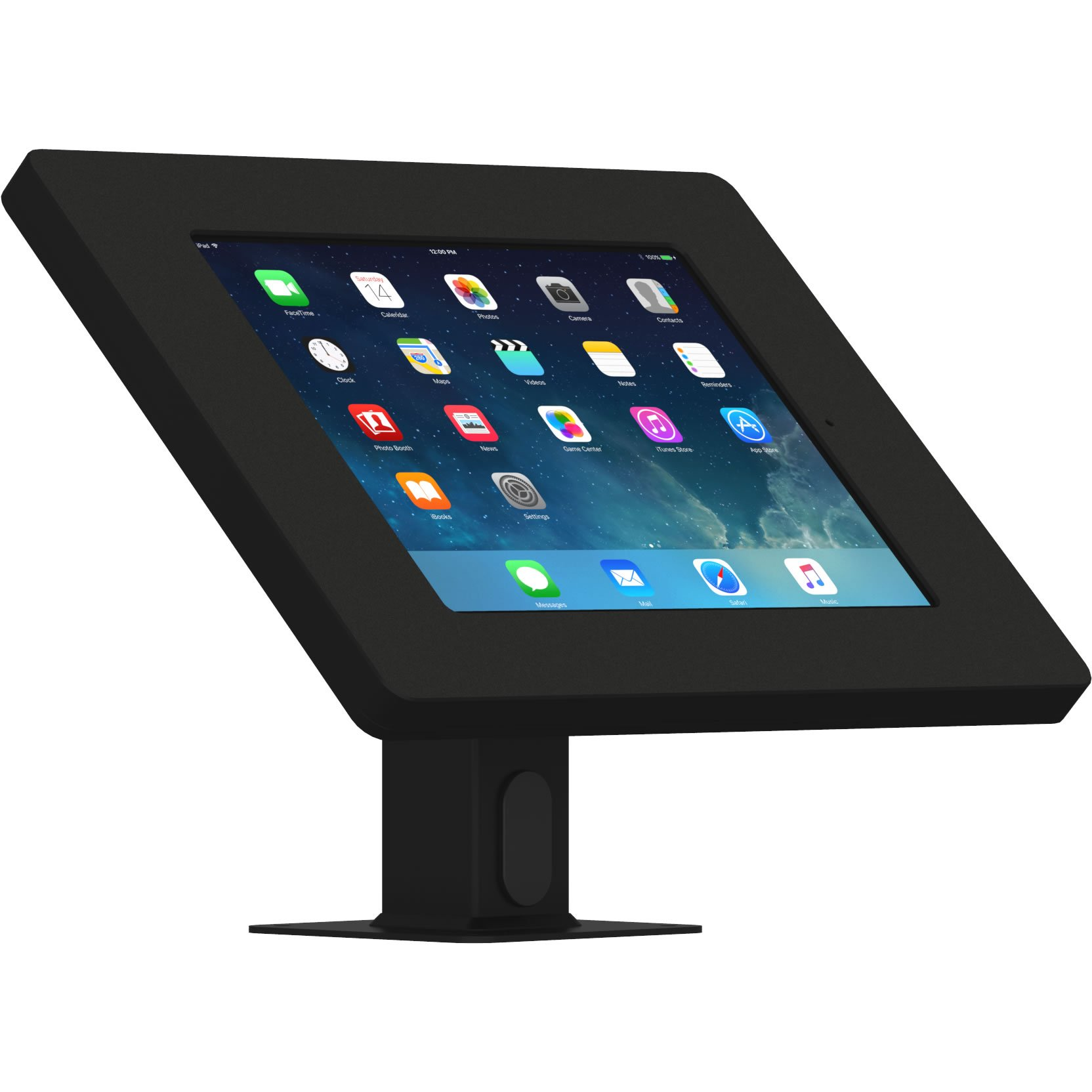 iPad (5th Gen) 9.7/Pro, Air 1/2 Black Covered Home Button Rotating & Tilting Desk/Table Mount [Bundle] by VidaMount (Image #9)