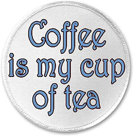 "2-7//8/"" Tea\Coffee Cup Embroidery Iron On Applique Patch"