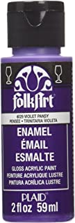 product image for FolkArt Enamel Glass & Ceramic Paint in Assorted Colors (2 oz), 4029, Violet Pansy