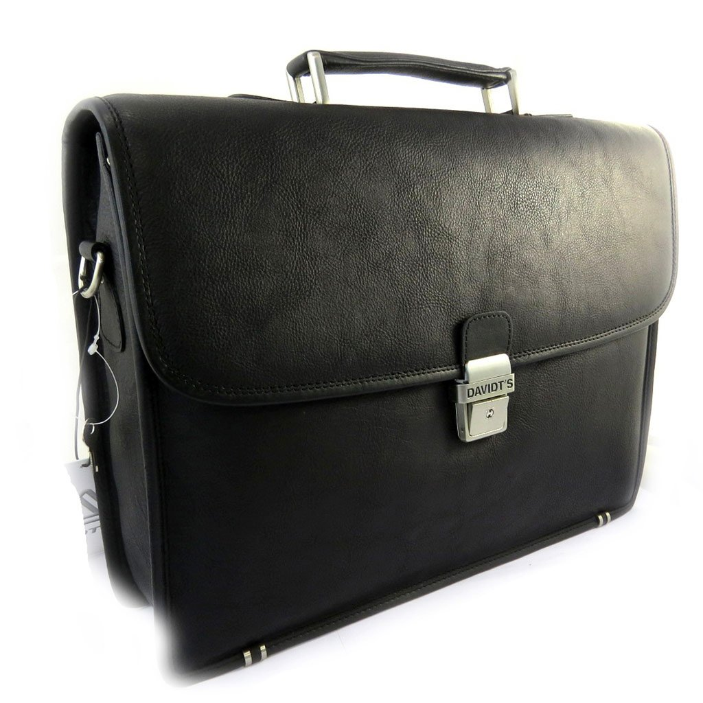Black leather briefcase vendôme 15 (1 boot).