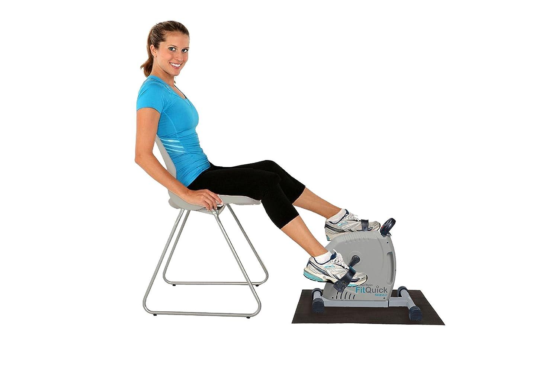 Mini bici de ejercicios desde una silla o sof/á FitQuick r Muscula brazos y piernas Rehabilitaci/ón para piernas y brazos Port/átil y funcional Calidad premium NUEVO Resistencia magn/ética silenciosa y de bajo impacto